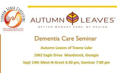 Autumn Leaves Dementia Care Seminar